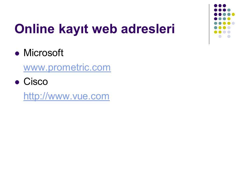 Online kayıt web adresleri