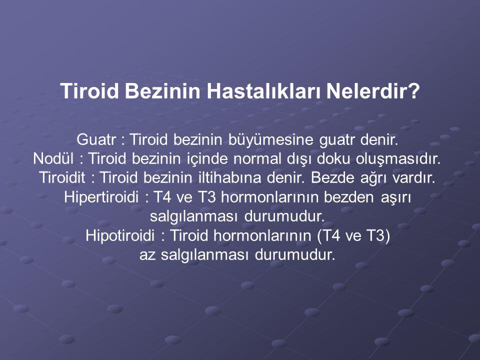 Tiroid Bezinin Hastalıkları Nelerdir