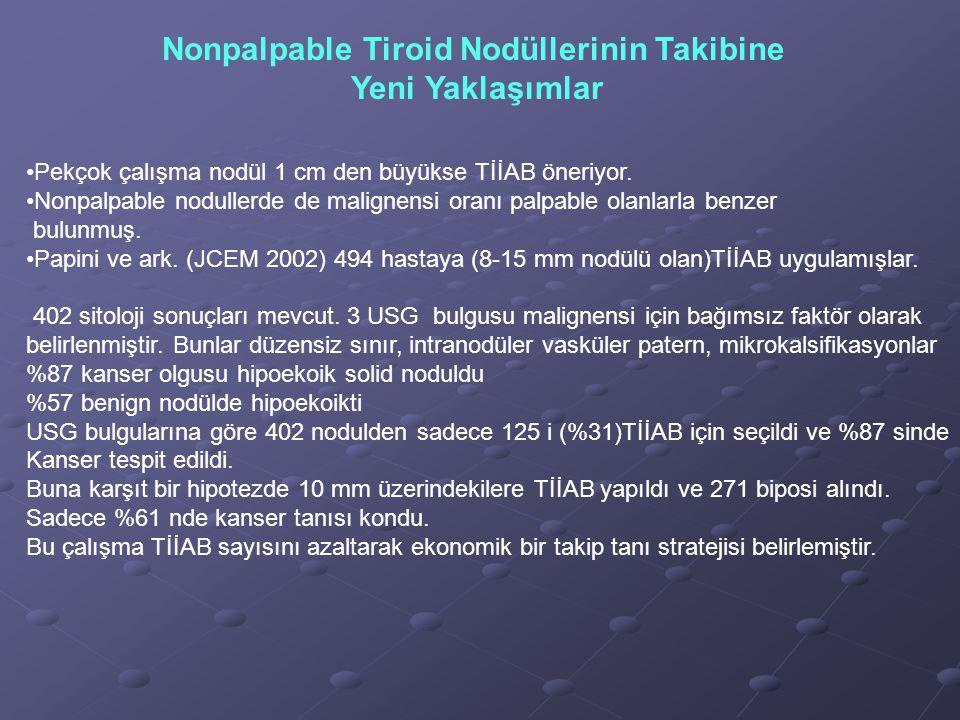 Nonpalpable Tiroid Nodüllerinin Takibine