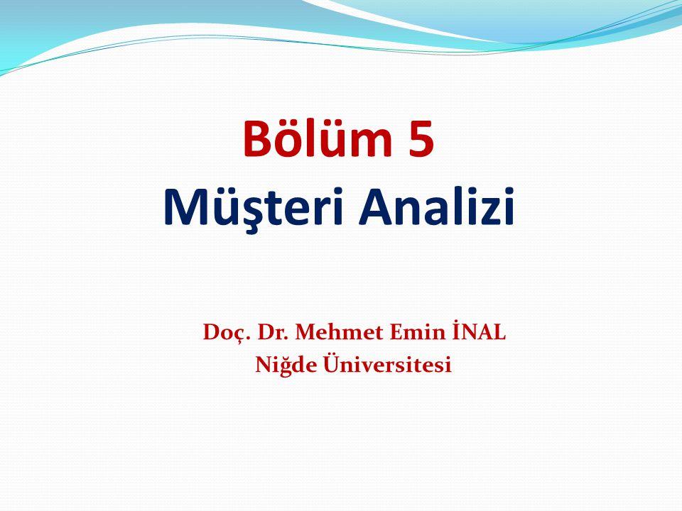 Doç. Dr. Mehmet Emin İNAL Niğde Üniversitesi