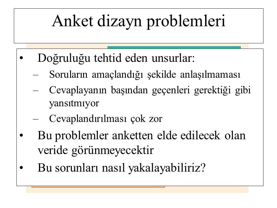 Anket dizayn problemleri