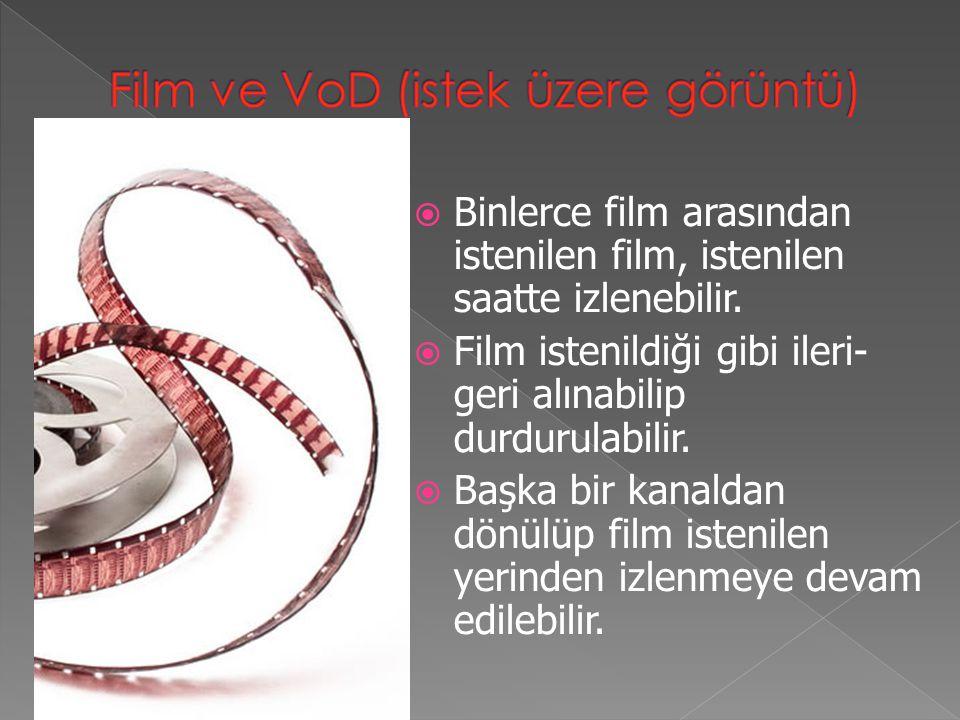 Film ve VoD (istek üzere görüntü)