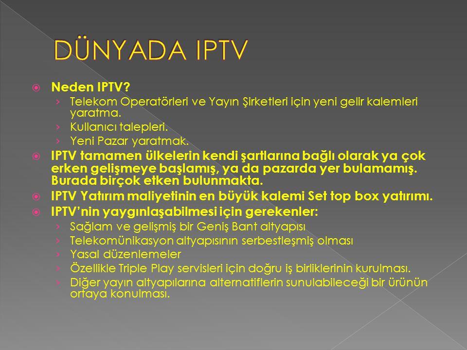 DÜNYADA IPTV Neden IPTV