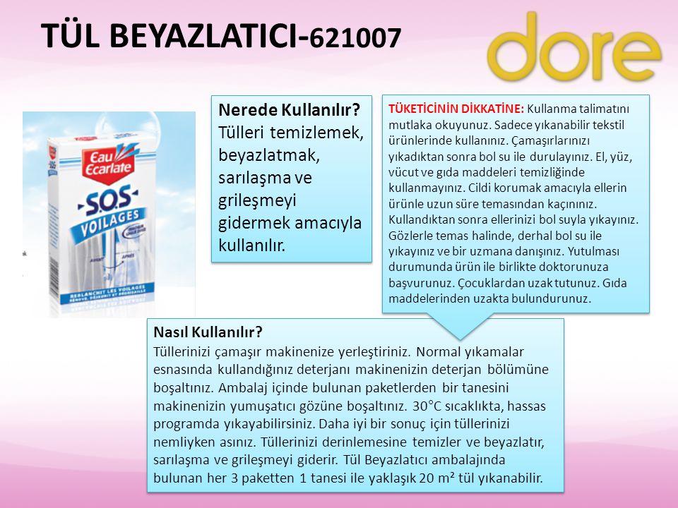 TÜL BEYAZLATICI-621007 Nerede Kullanılır