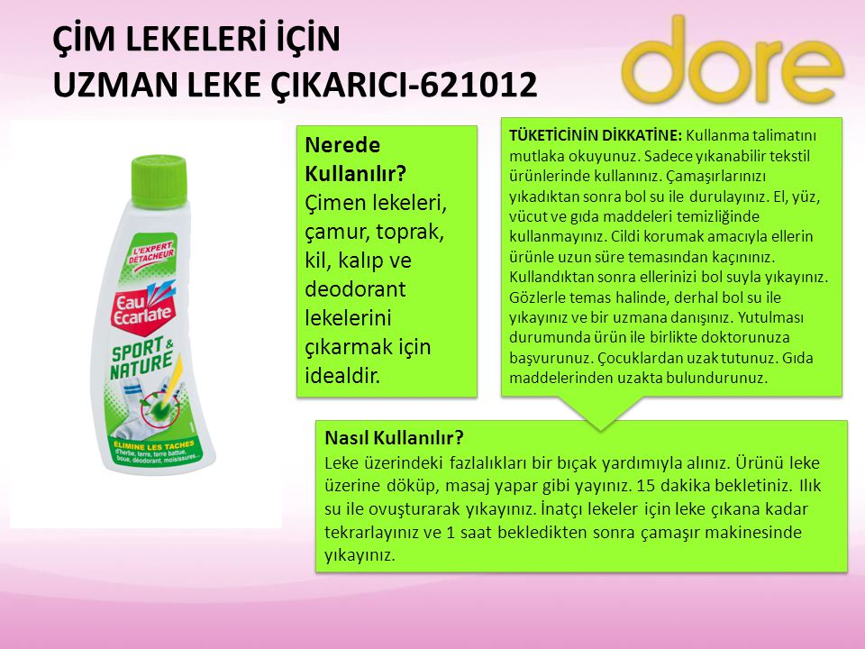ÇİM LEKELERİ İÇİN UZMAN LEKE ÇIKARICI-621012