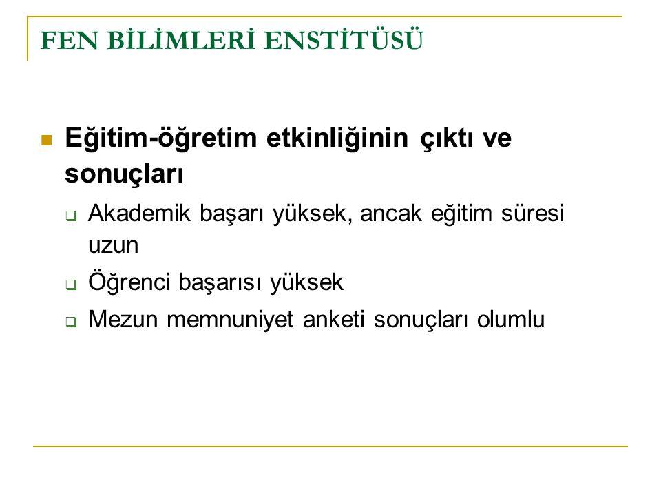 FEN BİLİMLERİ ENSTİTÜSÜ