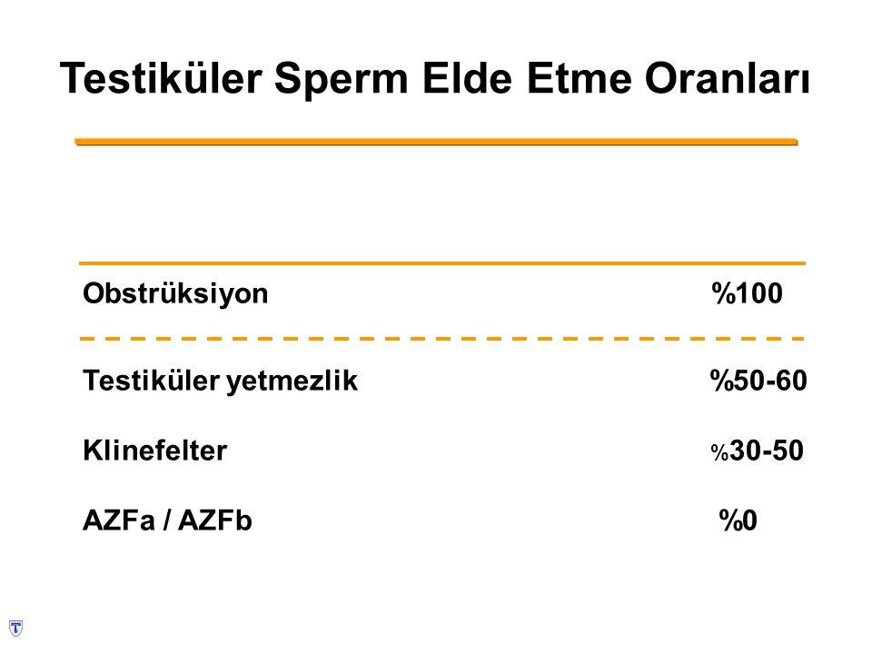 Testiküler Sperm Elde Etme Oranları