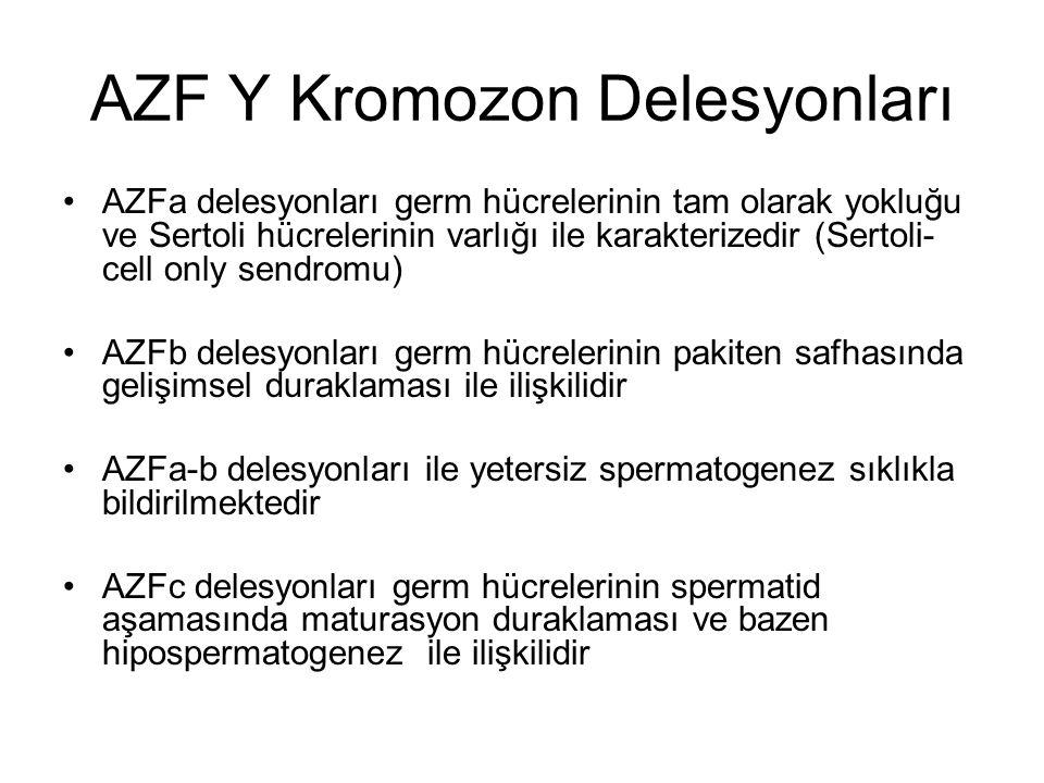 AZF Y Kromozon Delesyonları
