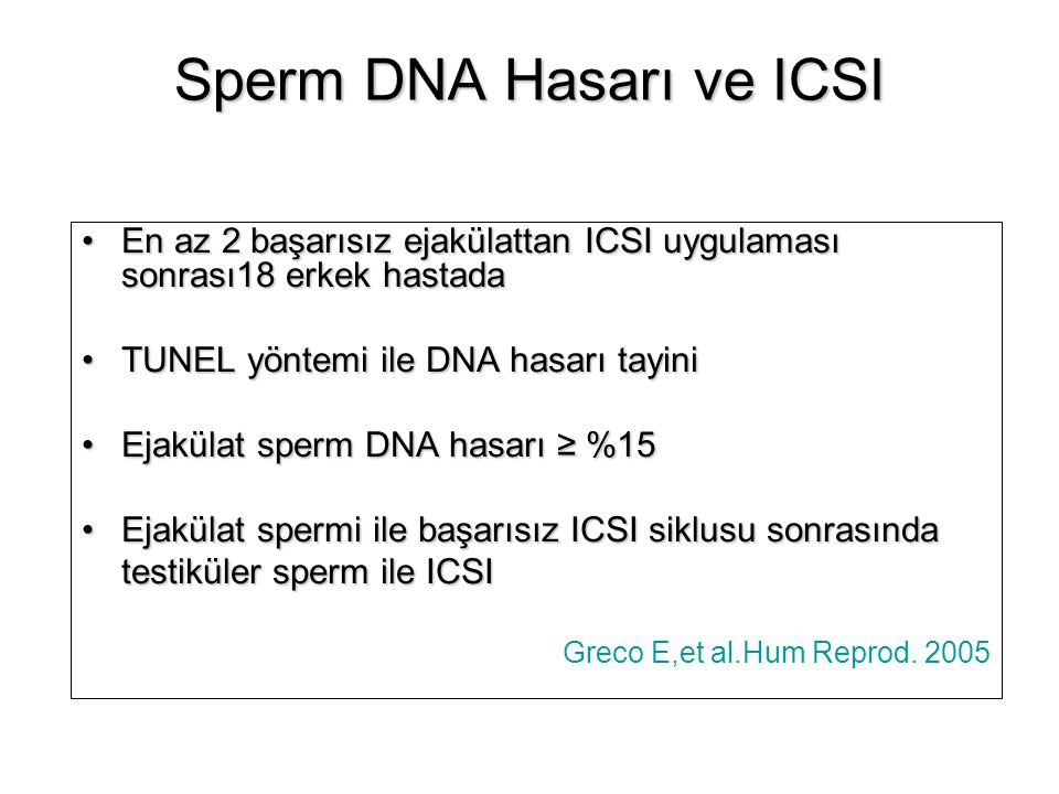 Sperm DNA Hasarı ve ICSI