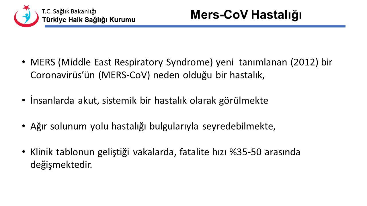 Mers-CoV Hastalığı MERS (Middle East Respiratory Syndrome) yeni tanımlanan (2012) bir Coronavirüs'ün (MERS-CoV) neden olduğu bir hastalık,