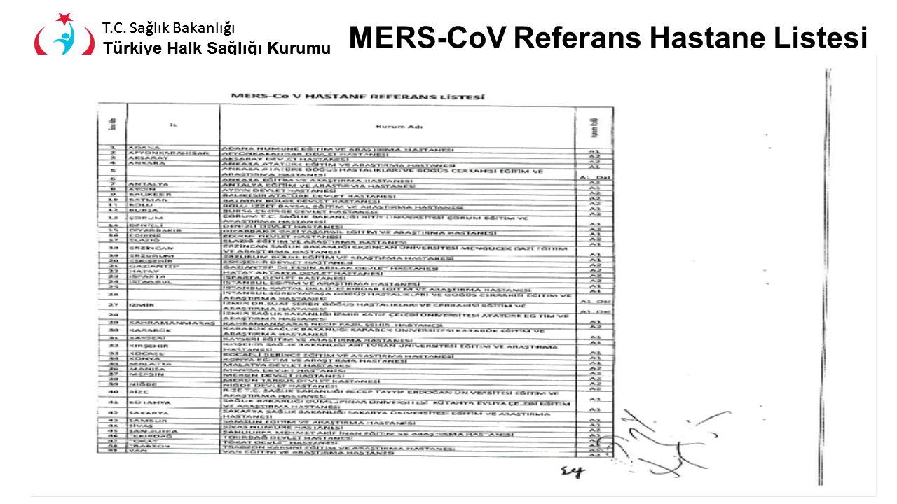 MERS-CoV Referans Hastane Listesi