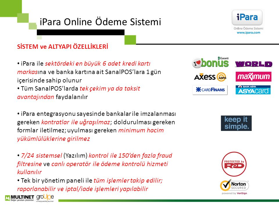 iPara Online Ödeme Sistemi