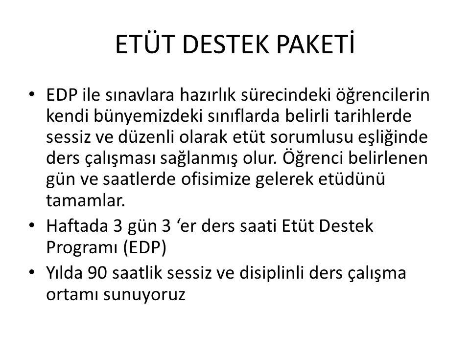 ETÜT DESTEK PAKETİ