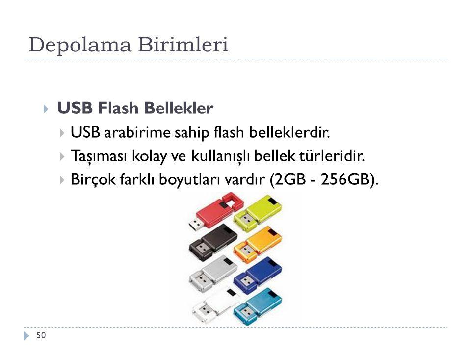 Depolama Birimleri USB Flash Bellekler