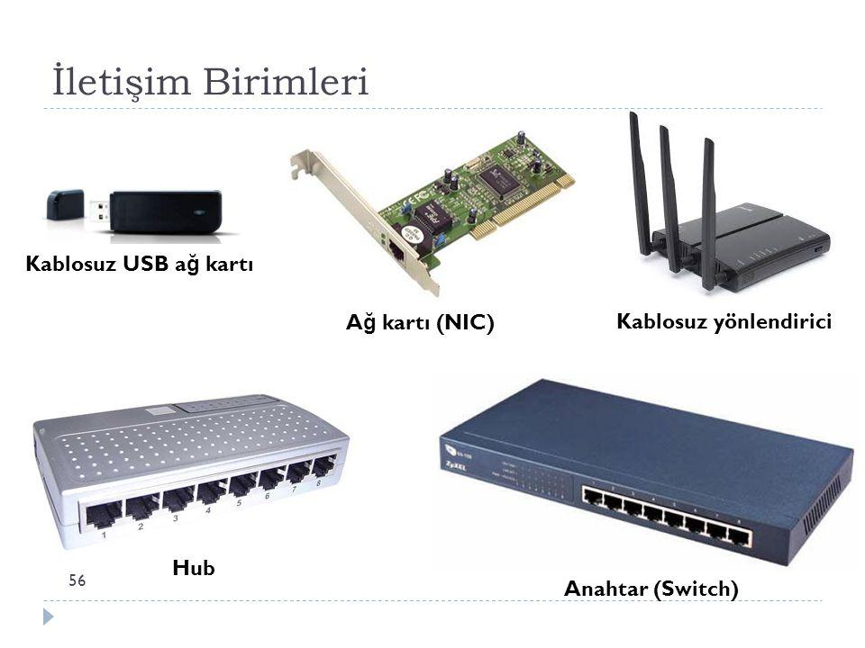 İletişim Birimleri Kablosuz USB ağ kartı Ağ kartı (NIC)