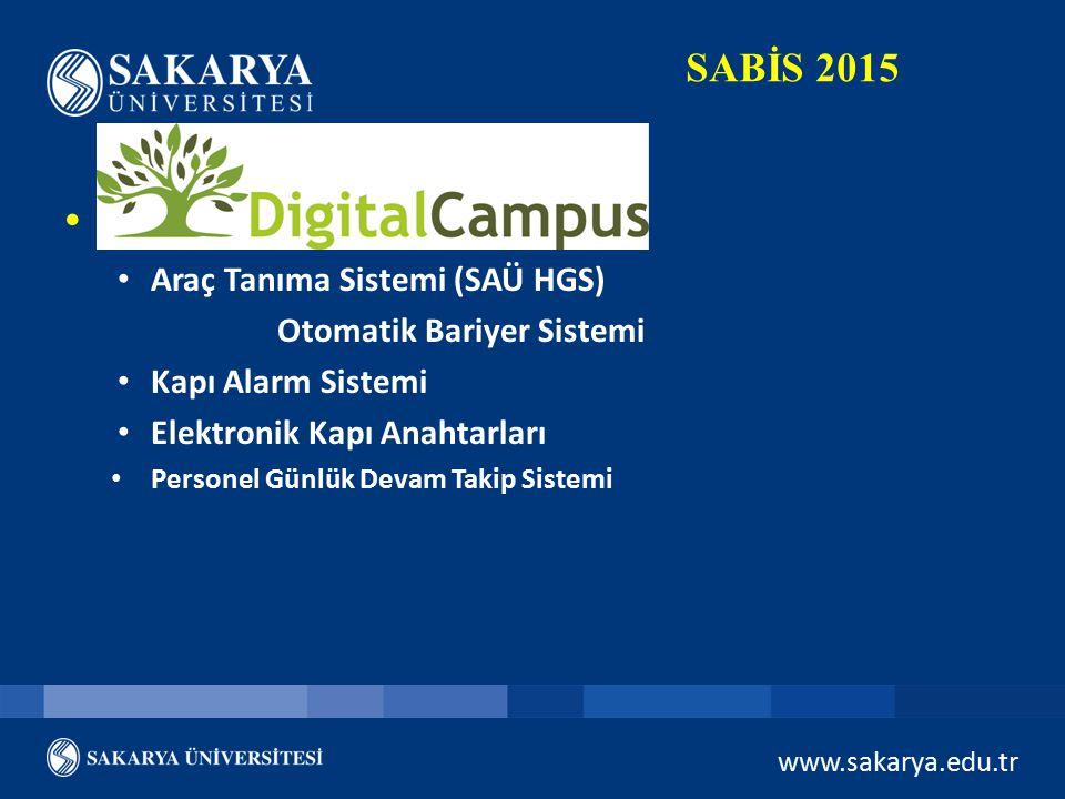 Digital Kampüs SABİS 2015 Araç Tanıma Sistemi (SAÜ HGS)