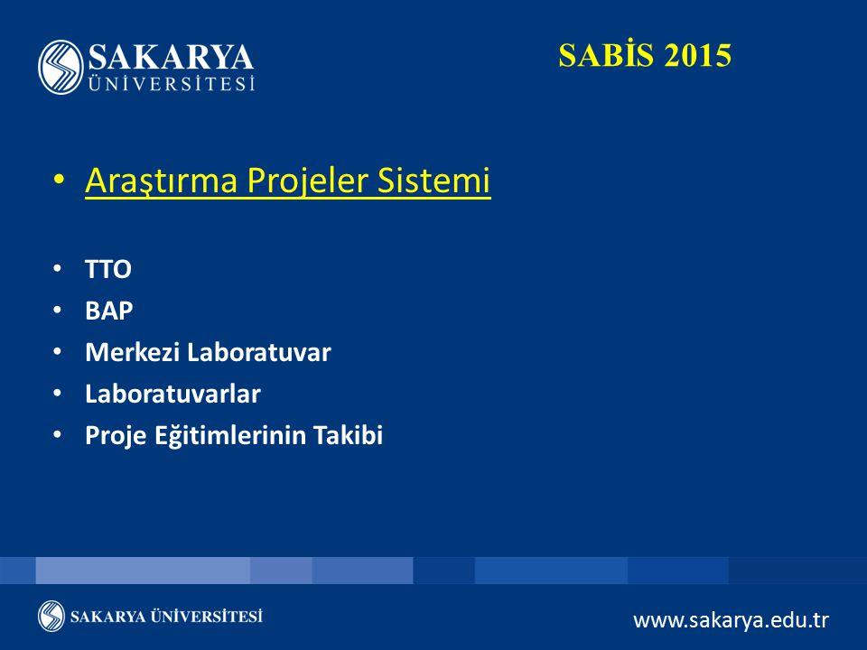 Araştırma Projeler Sistemi
