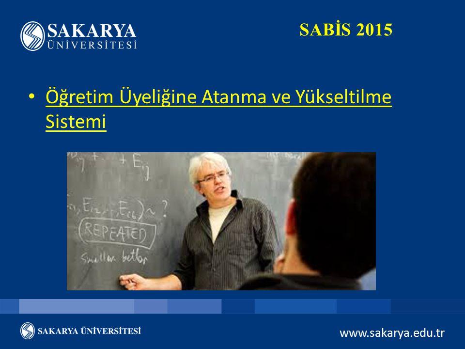 Öğretim Üyeliğine Atanma ve Yükseltilme Sistemi