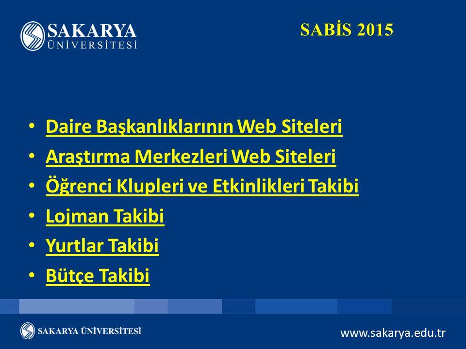 Daire Başkanlıklarının Web Siteleri Araştırma Merkezleri Web Siteleri