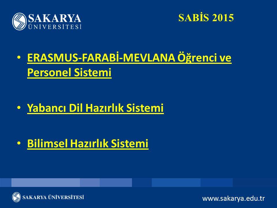 ERASMUS-FARABİ-MEVLANA Öğrenci ve Personel Sistemi