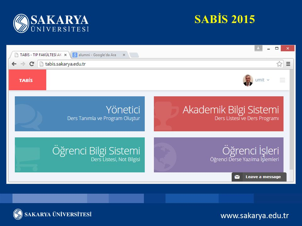 SABİS 2015 www.sakarya.edu.tr
