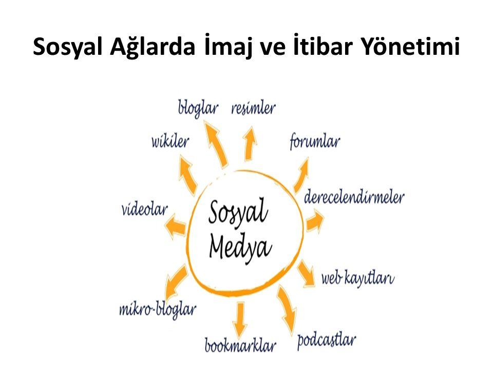 Sosyal Ağlarda İmaj ve İtibar Yönetimi