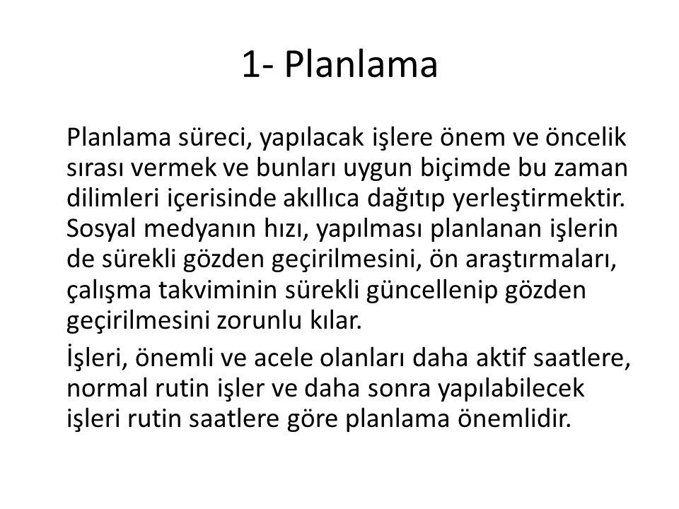 1- Planlama