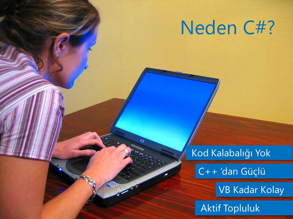 Neden C# Kod Kalabalığı Yok C++ 'dan Güçlü VB Kadar Kolay