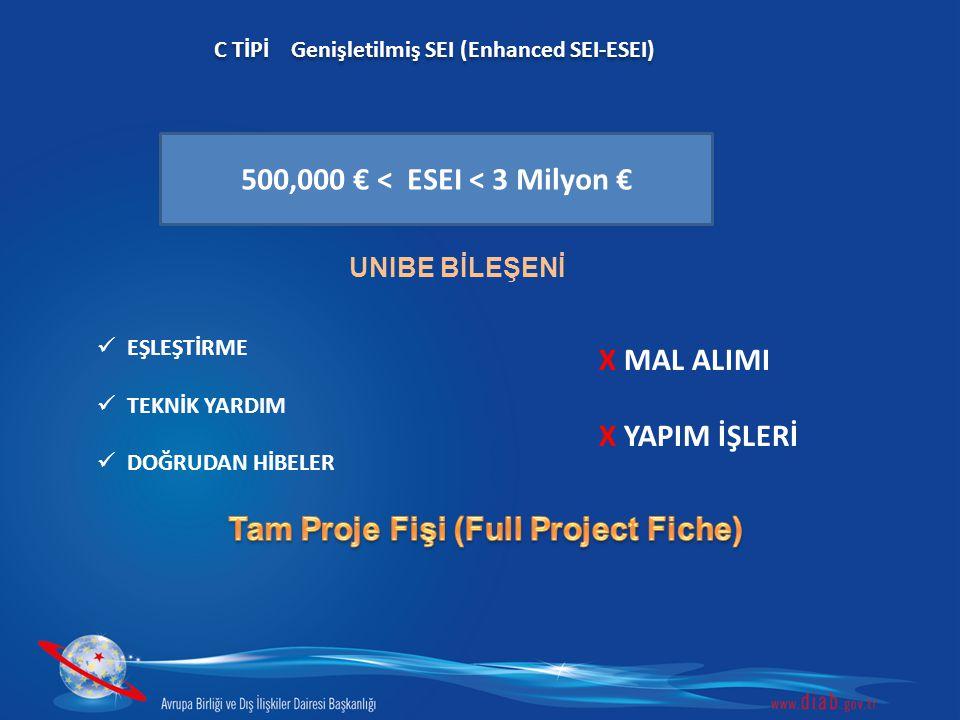 500,000 € < ESEI < 3 Milyon €