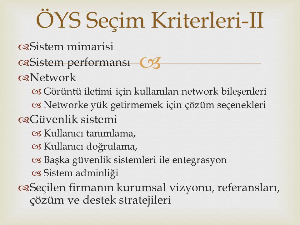 ÖYS Seçim Kriterleri-II