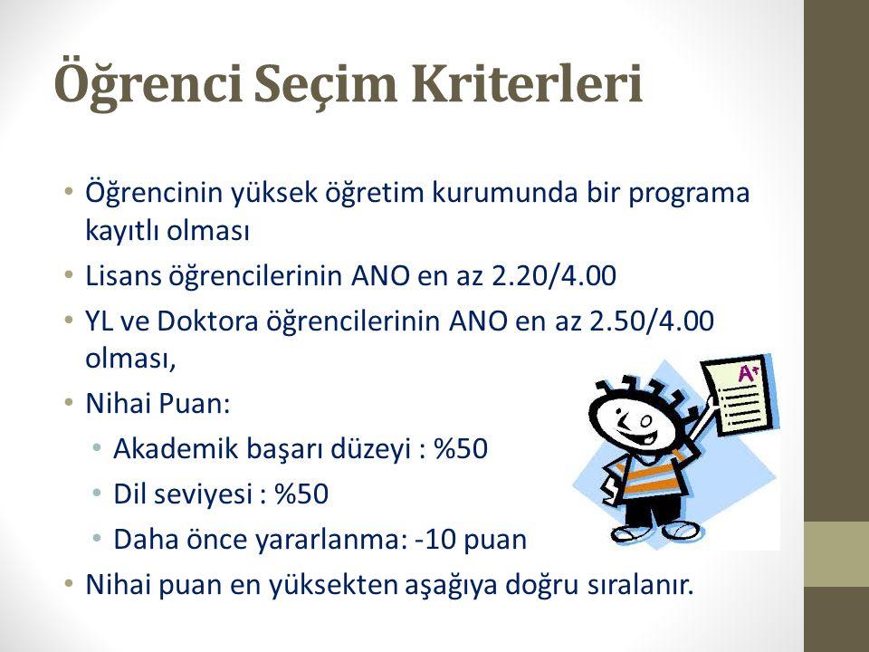 Öğrenci Seçim Kriterleri