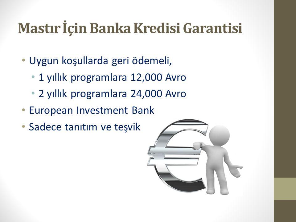 Mastır İçin Banka Kredisi Garantisi