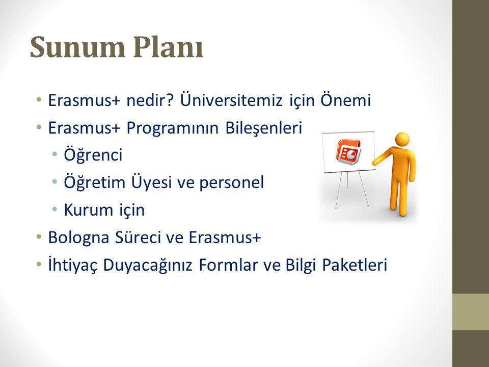 Sunum Planı Erasmus+ nedir Üniversitemiz için Önemi