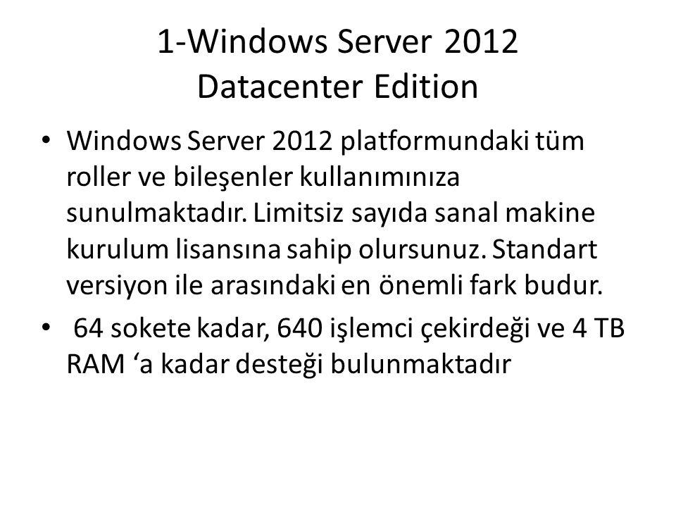 1-Windows Server 2012 Datacenter Edition