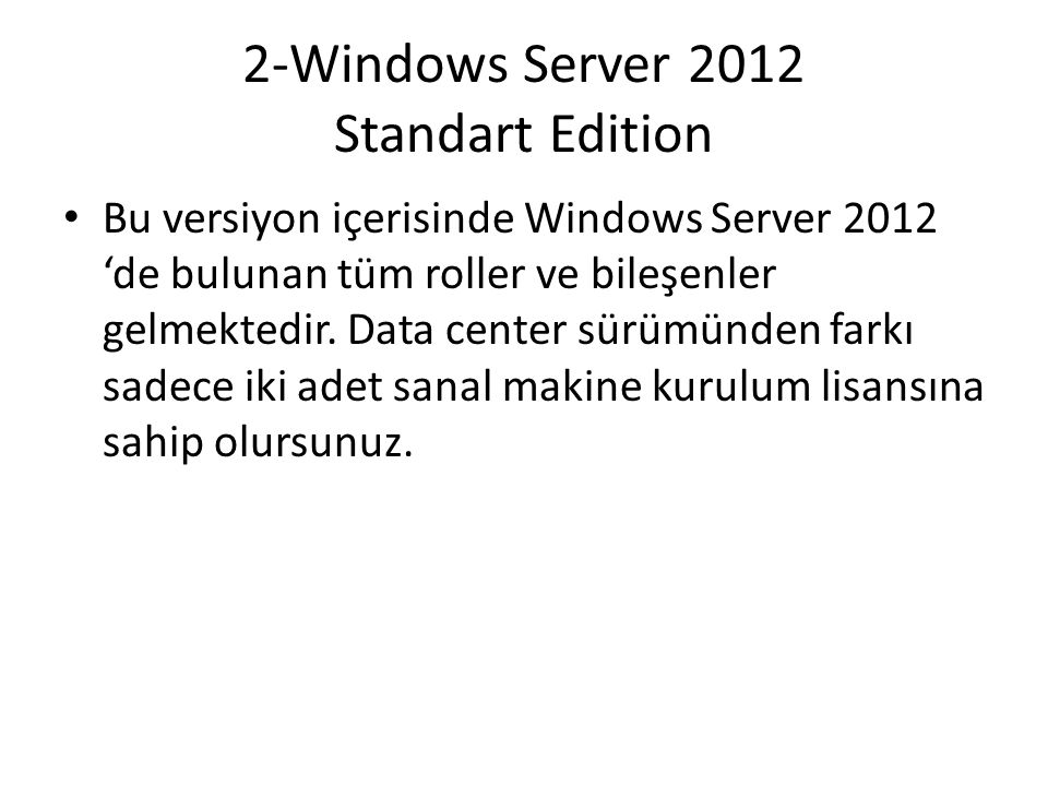 2-Windows Server 2012 Standart Edition