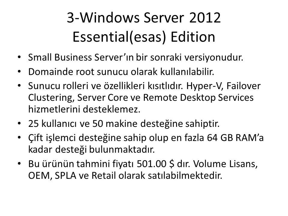 3-Windows Server 2012 Essential(esas) Edition