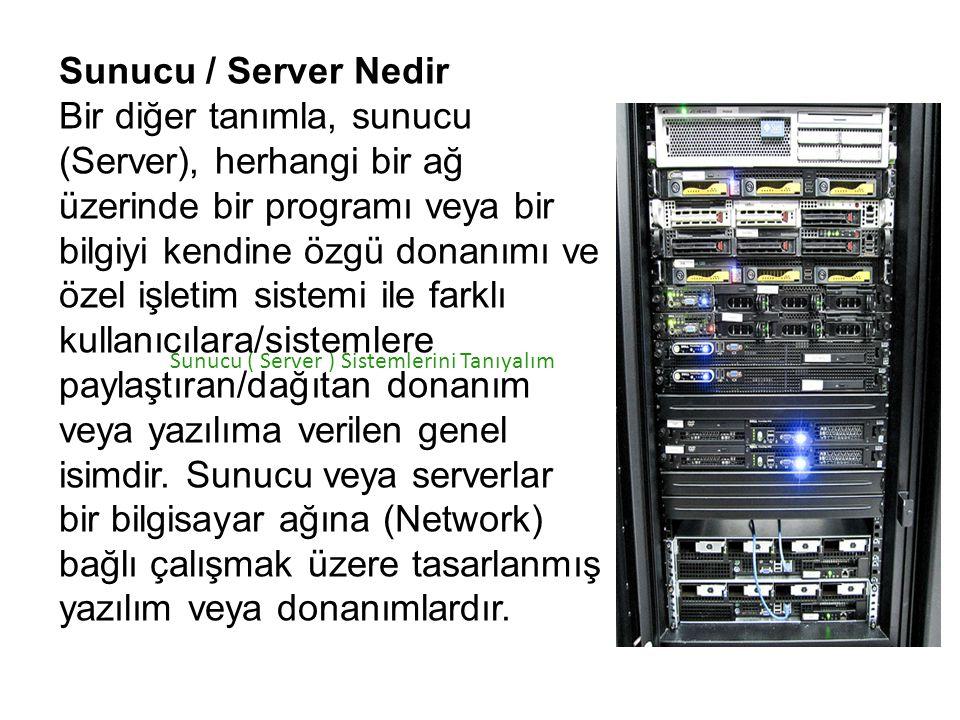 Sunucu / Server Nedir