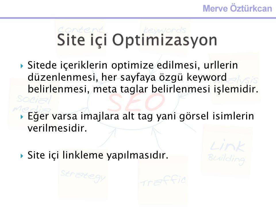 Site içi Optimizasyon
