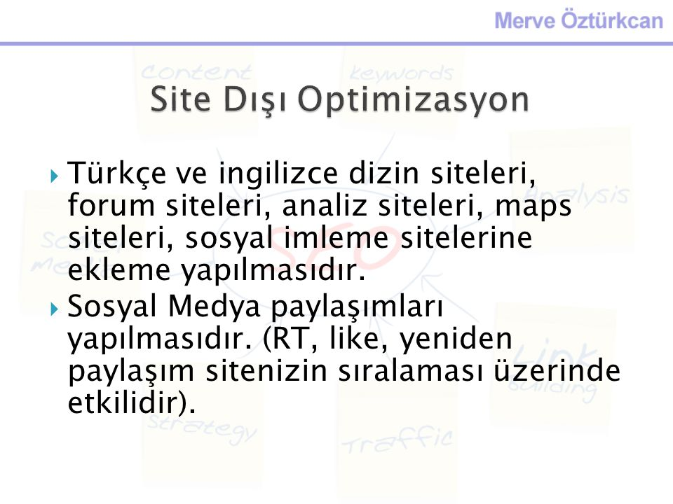 Site Dışı Optimizasyon