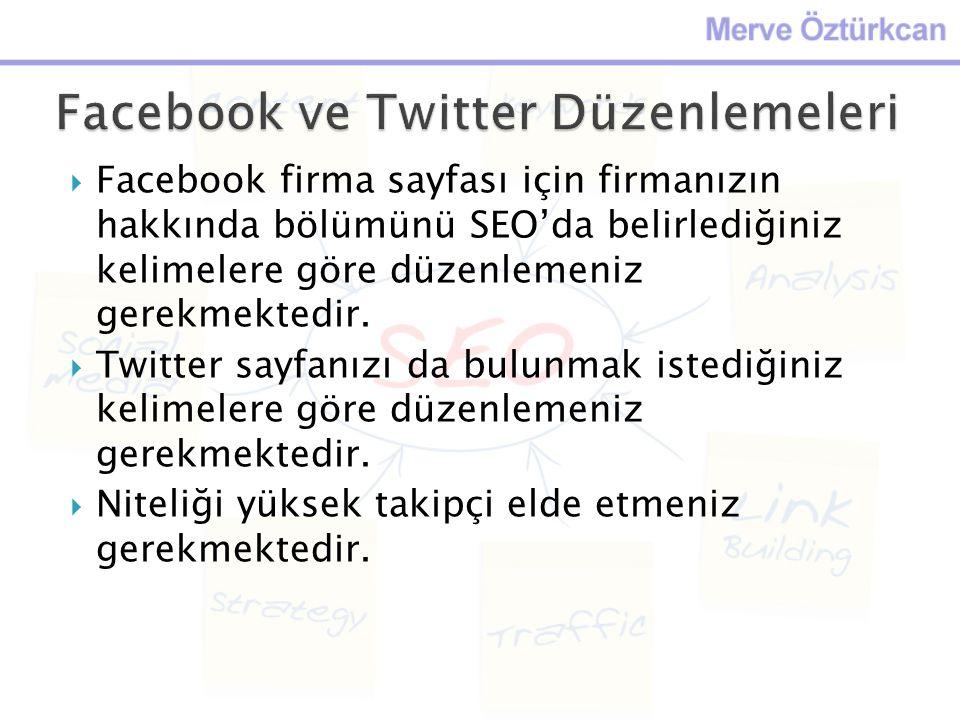 Facebook ve Twitter Düzenlemeleri