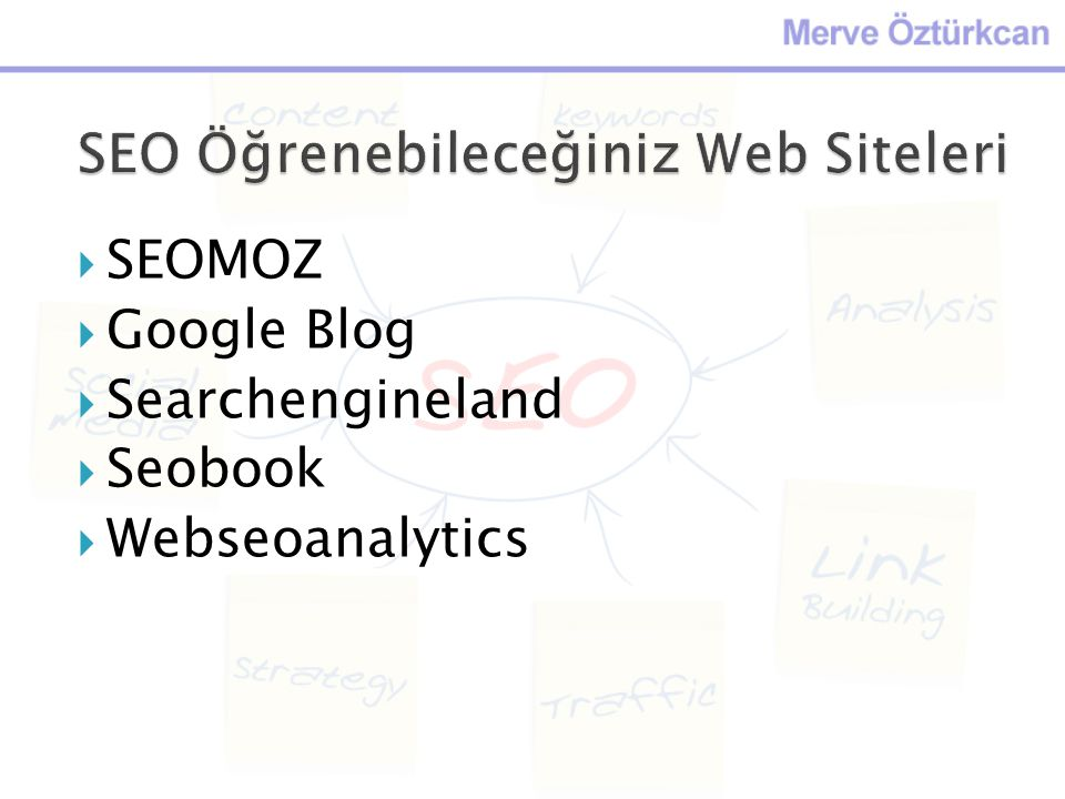 SEO Öğrenebileceğiniz Web Siteleri
