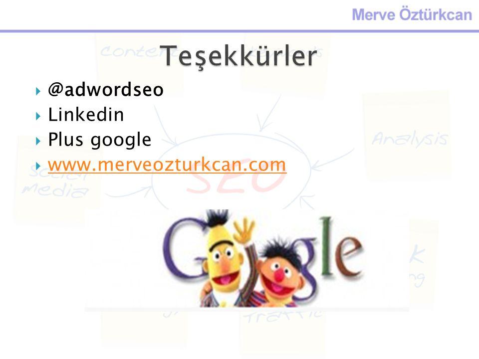 Teşekkürler @adwordseo Linkedin Plus google www.merveozturkcan.com