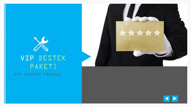 VIP DESTEK PAKETİ VIP SUPPORT PACKAGE