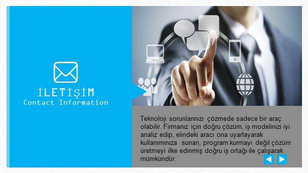 İLETİŞİM Contact Information.