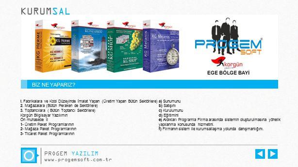 KURUMSAL PROGEM YAZILIM BİZ NE YAPARIZ www.progemsoft.com.tr