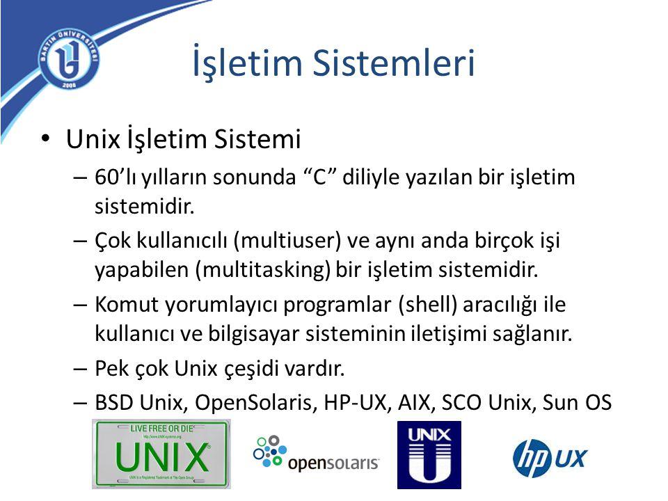 İşletim Sistemleri Unix İşletim Sistemi