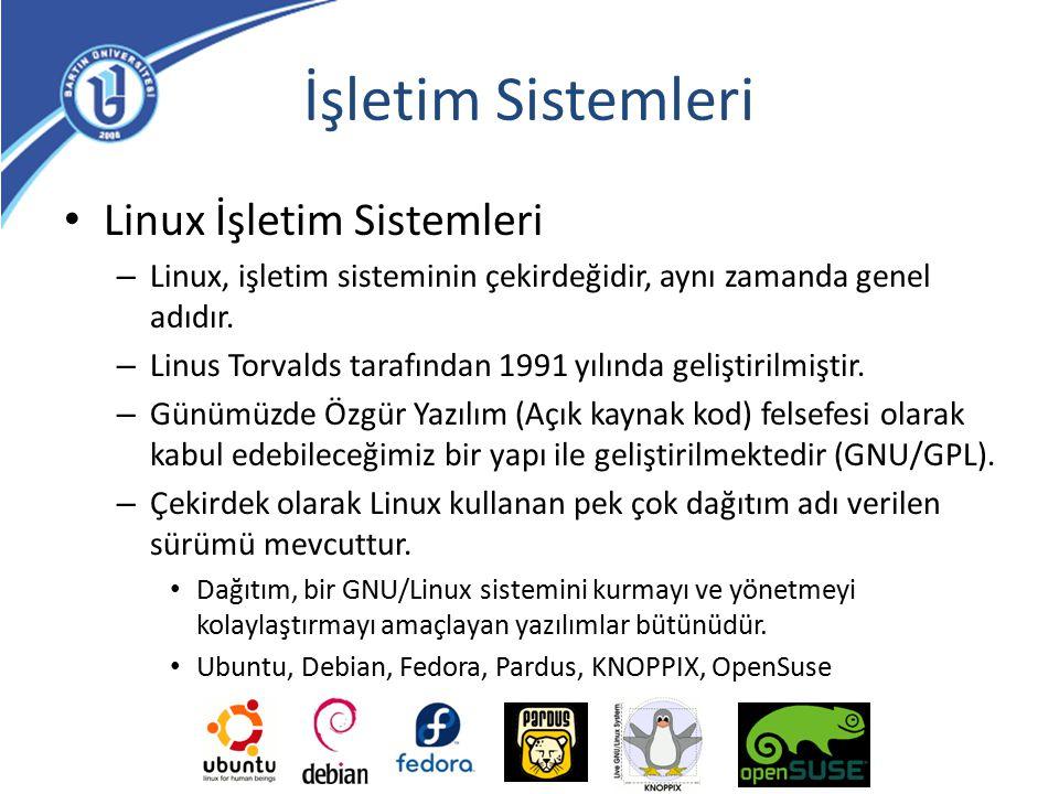İşletim Sistemleri Linux İşletim Sistemleri