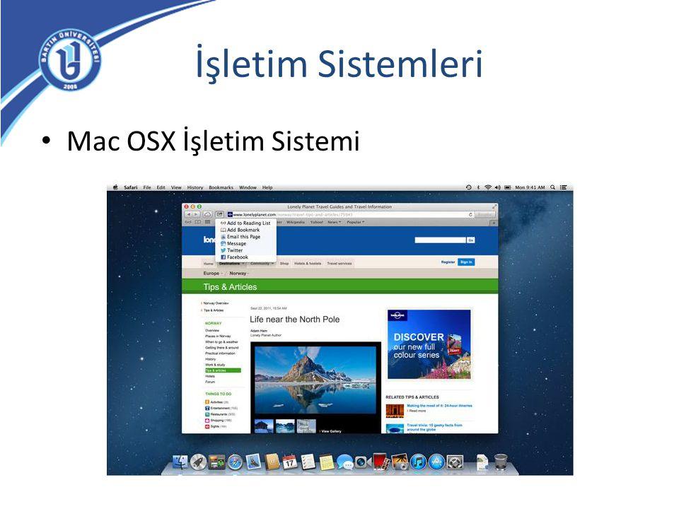 İşletim Sistemleri Mac OSX İşletim Sistemi
