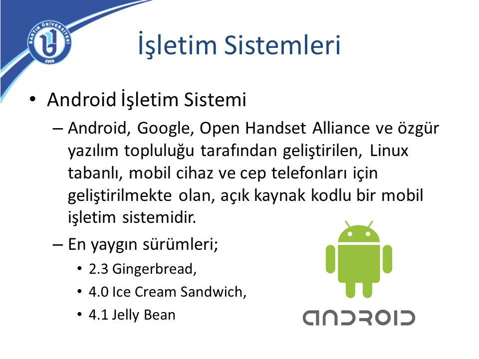 İşletim Sistemleri Android İşletim Sistemi