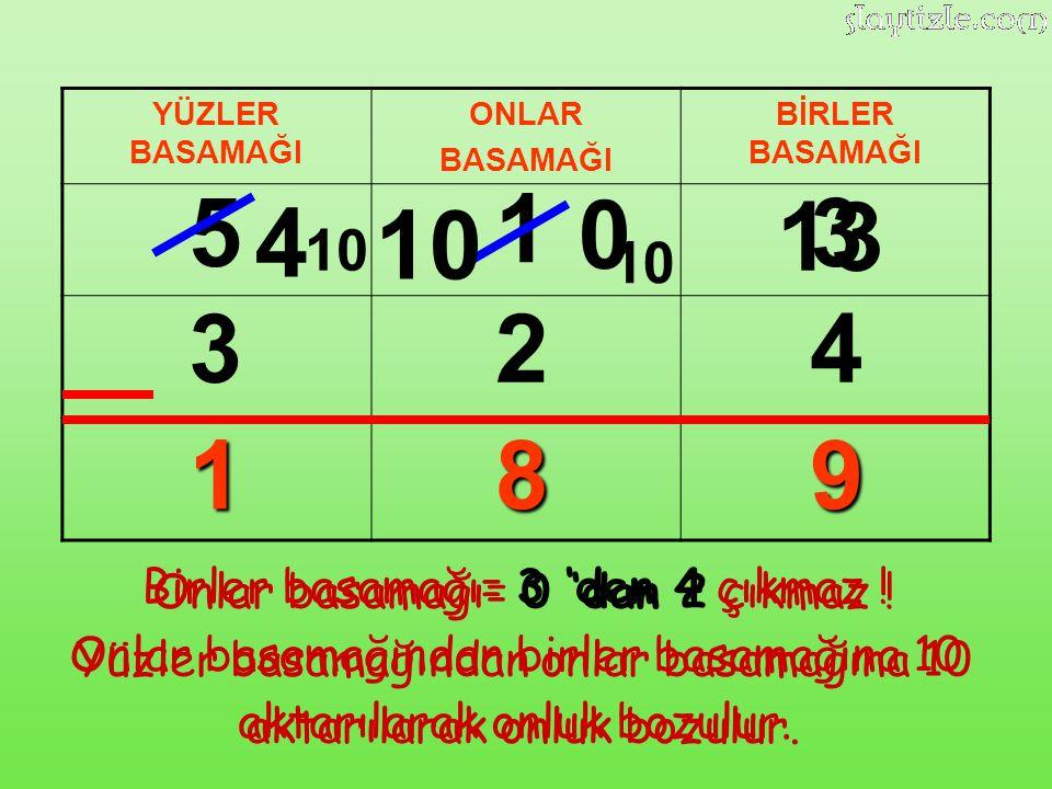 5 1 13 3 4 10 3 2 4 1 8 9 10 10 Birler basamağı= 3 'den 4 çıkmaz !